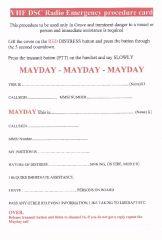 DSC Mayday Card