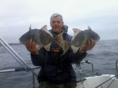 2012 09 02 15.09.50 Two specimen Trigger Fish 3.5 lbs and 4.0lbs